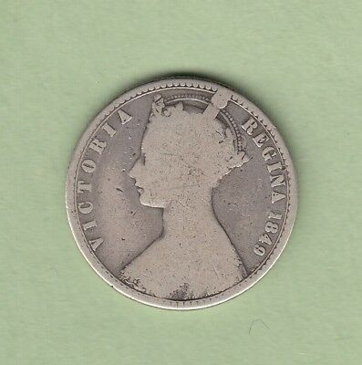 "1849 Great Britain ""Godless"" One Florin Silver Coin - VG"