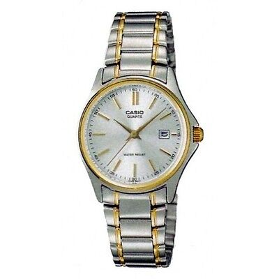 Casio LTP1183G-7A Ladies Silver Gold Tone Casual Stainless Steel Dress Watch New