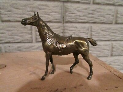 Cold Cast Bronze Metal Thoroughbred Race Horse Polo Pony Very Unique!