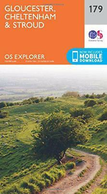 OS Explorer Map (179) Gloucester, Cheltenham and Stroud by Ordnance Survey | Map
