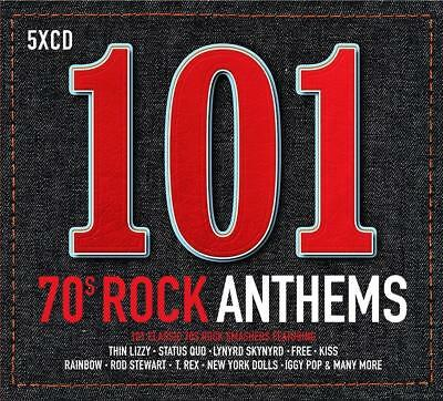 101 70s ROCK ANTHEMS - VARIOUS ARTISTS (NEW  SEALED 5CD)