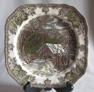 Square Salad Plate Johnson Brothers Bros. Friendly Village The Covered Bridge