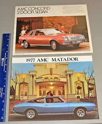 1977 AMC Matador and Concord Showroom Brochure catalog lot 1 6 spec sheet's car