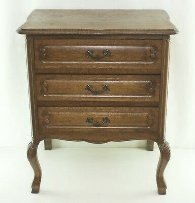Dresser Baroque Style Side Table Bedside Table Wood oak oak Chippendale Table