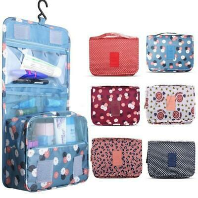 Travel Cosmetic Makeup Toiletry Case Wash Organizer Storage Pouch Hanging Bag Y