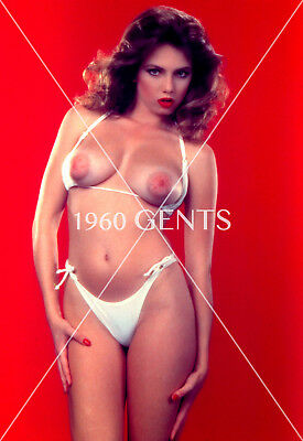 1980s NUDE 8X10 PHOTO BUSTY BIG NIPPLES BRUNETTE PINUP FROM ORIGINAL NEG-BR3