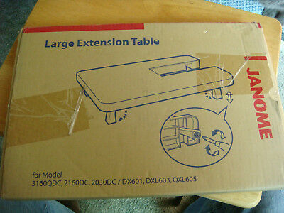 Genuine Janome Sewing Machine Large Extension Table 3160 QDC, 2160, 2030, dx601