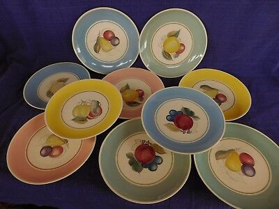 Susie Cooper Crown Works SALAD PLATE 1 of 10 available FRUIT