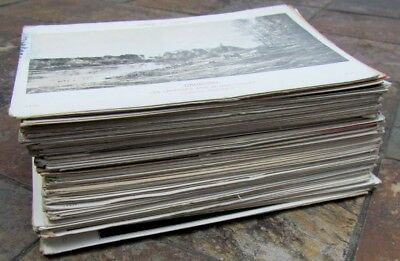 Large Lot Of 130 Antique French Art Postcards