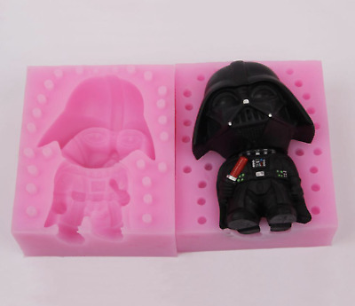 Star Wars Darth Vader Silicone Mold Soap Chocolate Polymer Clay Silicon Mould