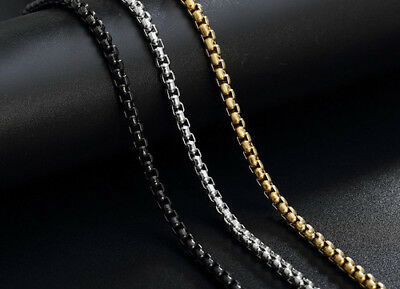 Stainless Steel Necklace 2MM  Chains For Pendants Titanium steel silver