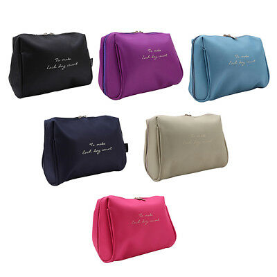 Multifunction Makeup Case Women Travel Cosmetic Pouch Toiletry Organizer Bag LD