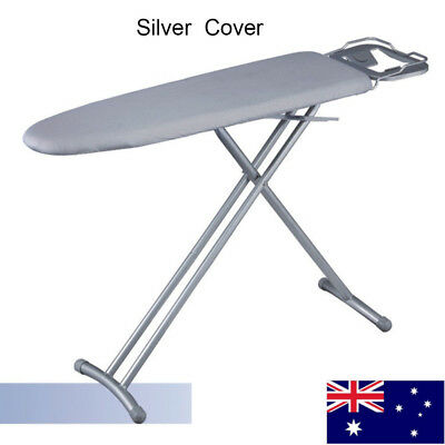 3 Sizes Universal Silver Coated Ironing Board Cover+4 mm Pad Thick Reflect Heat