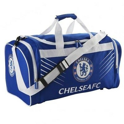 Chelsea Football Club Crest Large Blue & White Sports Bag Holdall SP