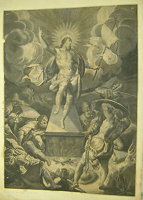 LARGE RARE EARLY 17th CENTURY OLD MASTER - RESURRECTION - ATTRIB. LUCAS KILIAN