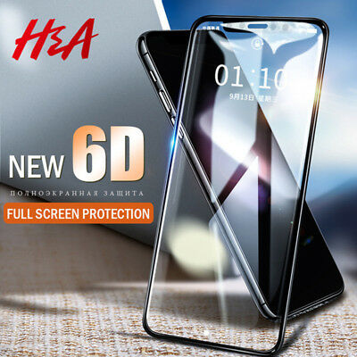 6D Curved Full Tempered Glass Screen Protector Film For Apple iPhone X 7 8 Plus