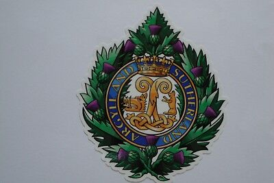 "4""  ARGYLL AND SUTHERLAND REGIMENT  x2    BRITISH ARMY  BADGES MILITARY"