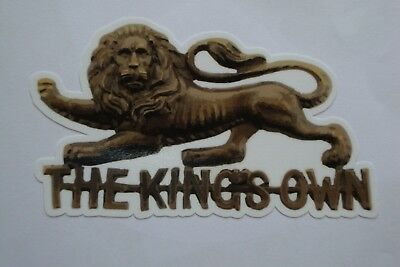 "4"" THE KINGS OWN REGIMENT  x2    THE RIFLES BRITISH ARMY  BADGES MILITARY"