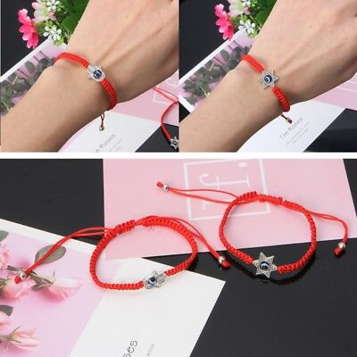 Lucky Kabbalah Red String Bracelets Blue Evil Eye Fatima Hand Jewelry