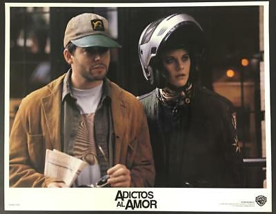 Meg Ryan motorcyclist outfit Matthew Broderick Addicted to Love lobby card 1409