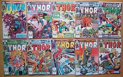 10 ISSUES THOR #310,311,312,313,314,315,316,317,318,319 MARVEL COMICS 1st PRINTS