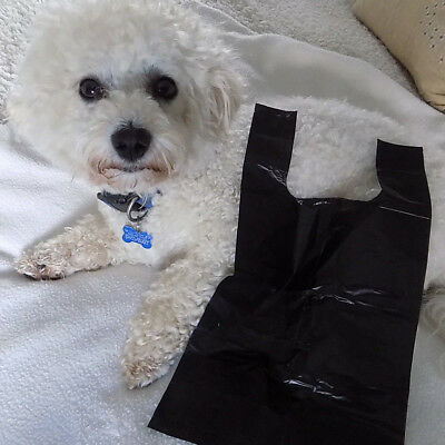 Quick and Easy Waste Disposal Dog Poo Bags with Easy Tie Handles - Free Post Pk