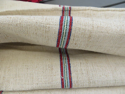 """Unused Grainsack Feed Sack  Upholstery Handwoven  Linen  Strip19  1/2 """" by 39 """""""