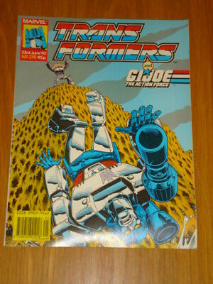Transformers British Weekly #275 Marvel Uk Comic 1990