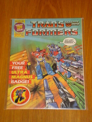 Transformers British Weekly #99 Marvel With Gift 1987