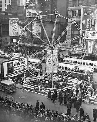 MARCH OF DIMES FERRIS WHEEL TIMES SQUARE 8x10 SILVER HALIDE PHOTO PRINT