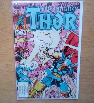 THE MIGHTY THOR #339 1st STORMBREAKER MARVEL COMICS JAN 1984 VERY FINE B. & B,
