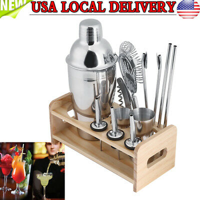 550ML Stainless Steel Cocktail Shaker Accessories Set Barware Bar Mixing Making