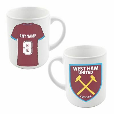 West Ham United Personalised Customised Name Number Gift Coffee Tea Cup Mug MO5