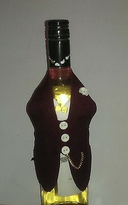 Christmas Wine Bottle Tuxedo   Pick your Color *