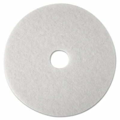 "3m 4100 14"" Super Polish Pads Buffer Pads in White - 5/Case"