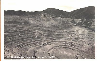 c1940s Copper Mine @ Bingham Canyon UT real photo postcard