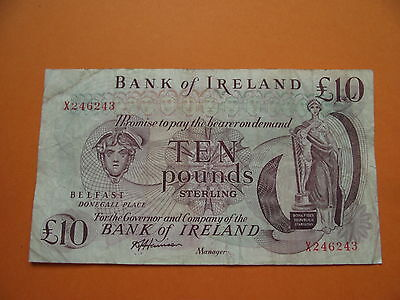 IRLAND. BANK of IRELAND. £10 PFUND BANKNOTE ND (1984) P.67b