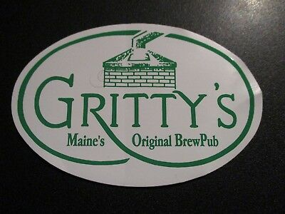 GRITTY MCDUFFS Grittys Maine black fly STICKER decal craft beer brewing brewery
