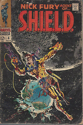 Nick Fury Agent of Shield  #6  GD+  Silver Age  November 1968