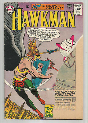 HAWKMAN # 2 * 1964 * Missing part of front cover