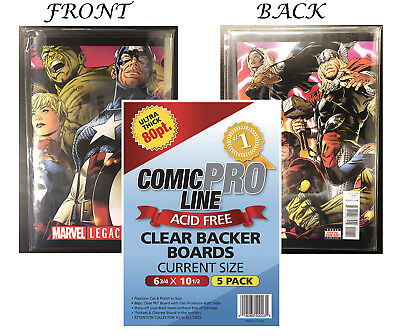 CPL Crystal Clear Premium Quality Archival 80pt Current Comic Boards 5ct Pack