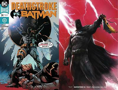 Deathstroke #34 Regular & #34 Francesco Mattina Variant Set 2 Comics Batman