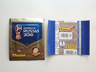 Pochette Panini Wc Coupe Monde 2018 Russia Packet Bustina Horizontal Allemand
