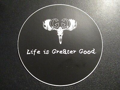 GREATER GOOD IMPERIAL BREWING CO blk worcester STICKER decal craft beer brewery
