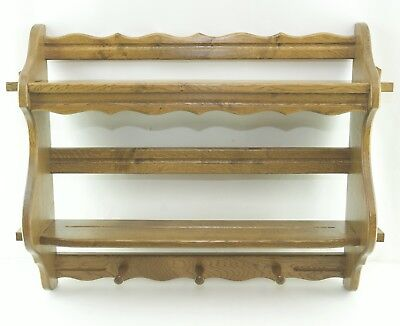Plate Wall Shelf Light oak Kitchen Wall Console Towel Holder Collection Plate
