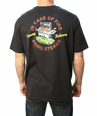 Tommy Bahama Relax Tee In Case Of Fire BLACK Various Sizes NEW