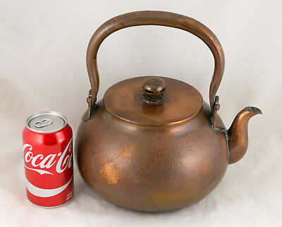 Antique Japanese COPPER YAKKAN KETTLE Teapot Tetsubin Meiji Period 19th C SIGNED