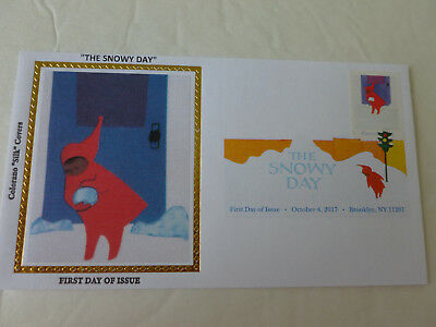 2017 The Snowy Day (DCP CANCEL) Fdc Sc#5243 Colorano Silk Limited Ed.- Cachet #4