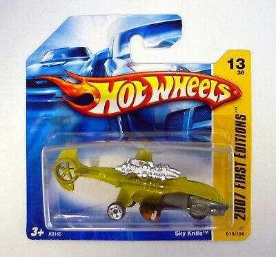 HOT WHEELS SKY KNIFE 2007 First Editions Diecast Short Card MOC COMPLETE 2006