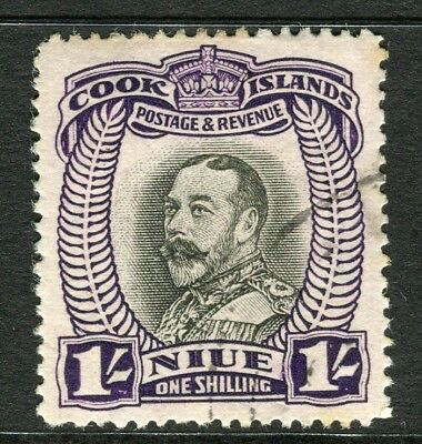 TOKELAU ISLANDS; NIUE 1932 early Pictorial issue fine used 1s. value